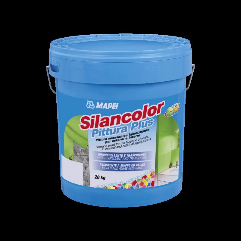 SILANCOLOR-PITTURA-PLUS-MAPEI-Pittura-silossanica,-igienizzante-per-esterni-ed-interni,-idrorepellente,-traspirante-resistente-a-muffe-ed-alghe.