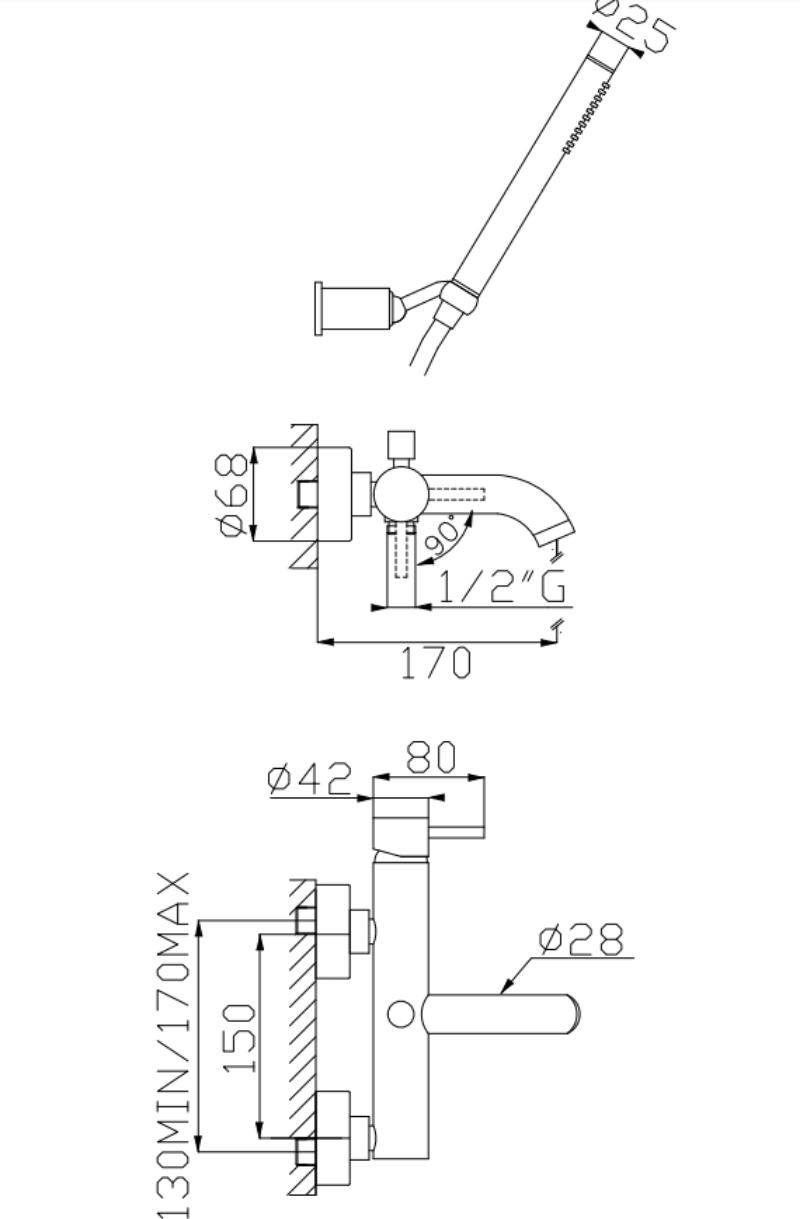 effepi-Tondì-Monocomando-vasca-con-doccia-duplex-in-ABS-e-flessibile-Silitech-Art.-15008
