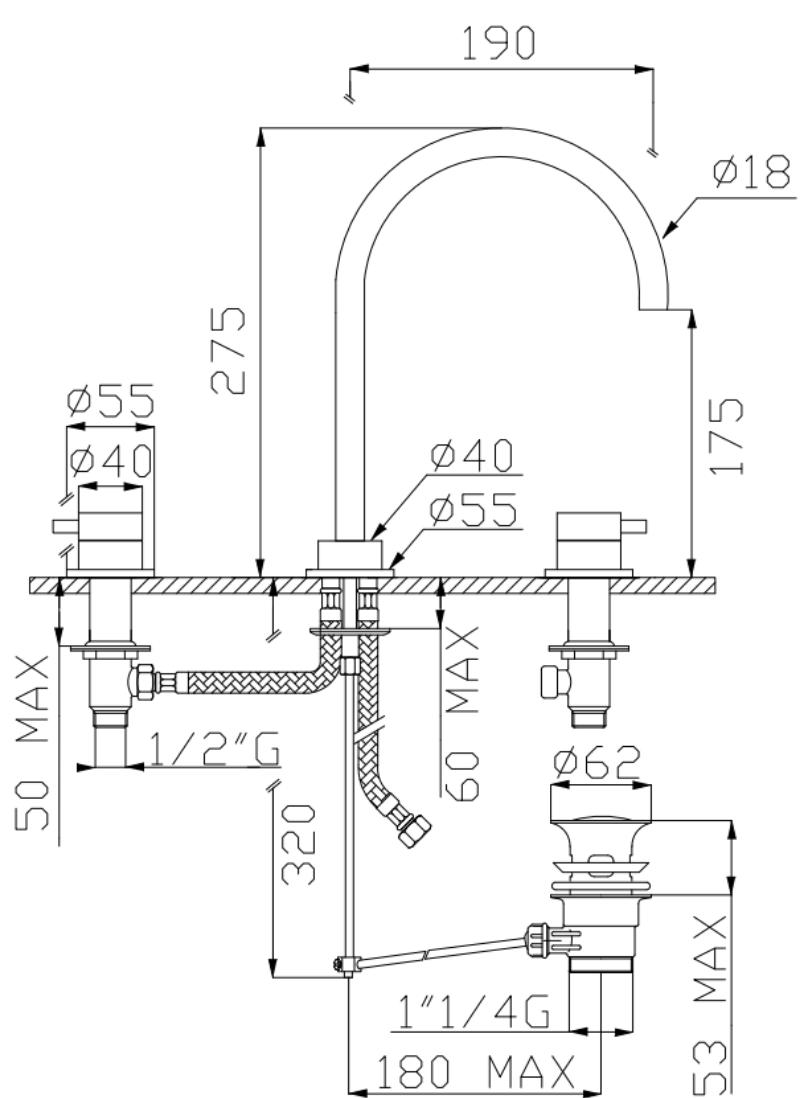 effepi-Tondì-Batteria-lavabo-tre-fori-con-scarico-Art.-15037