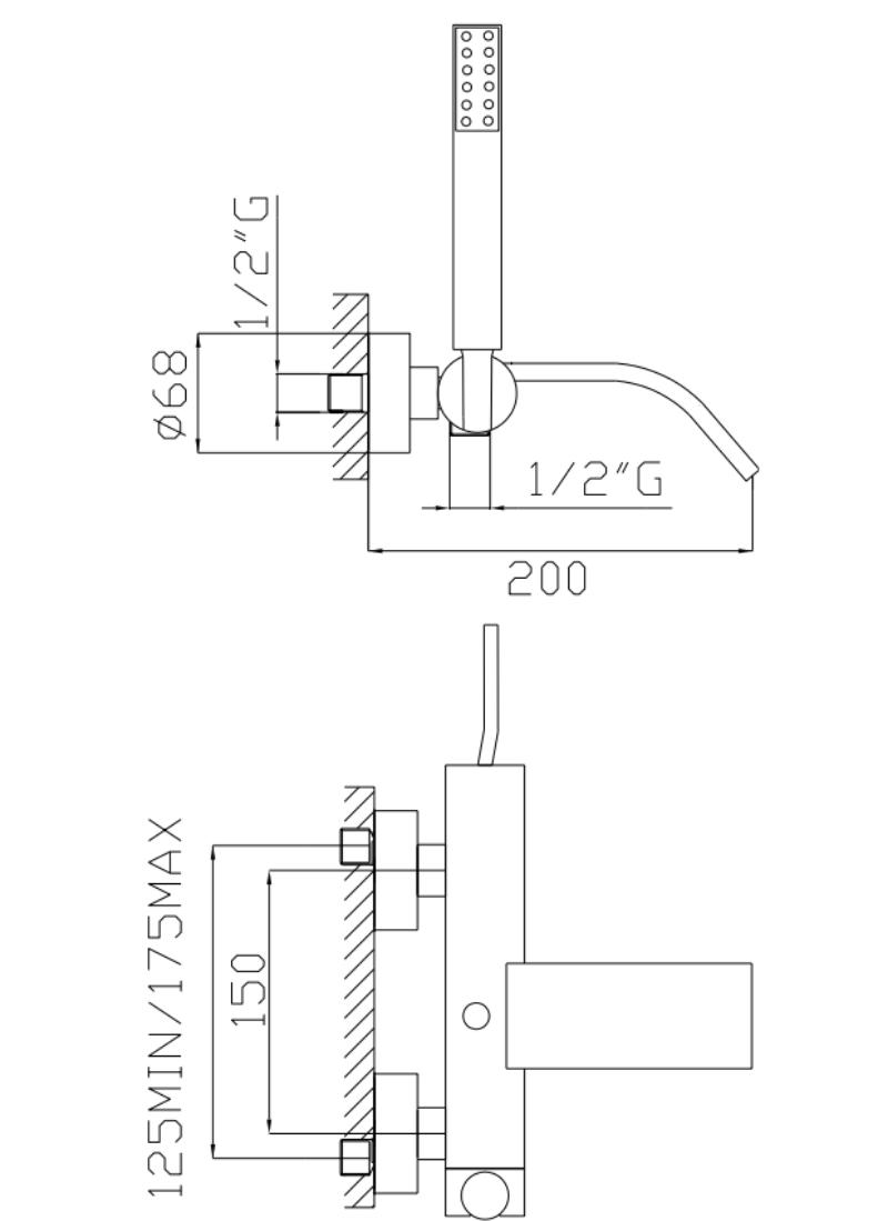 effepi-Thor-Gruppo-vasca-con-duplex-e-flessibile-doppia-aggraffatura-Art.-9008