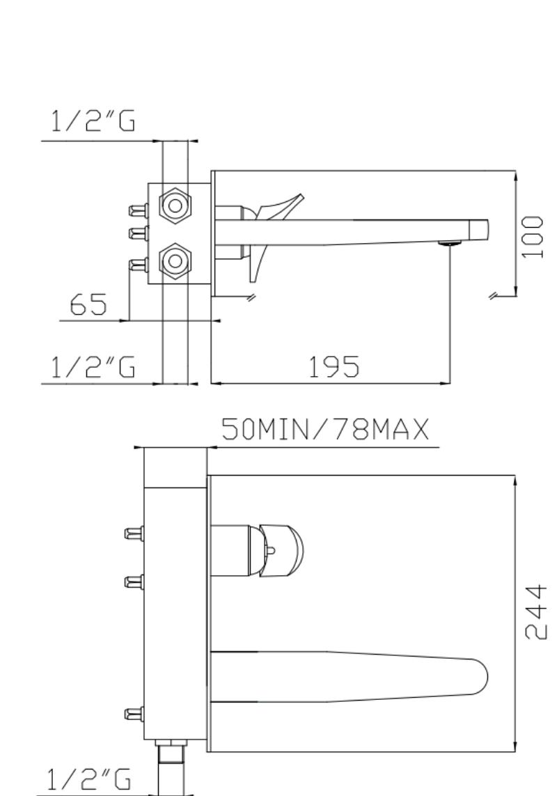effepi-Bèk-Monocomando-lavabo-ad-incasso-completo-di-Easy-box-Art.-13034