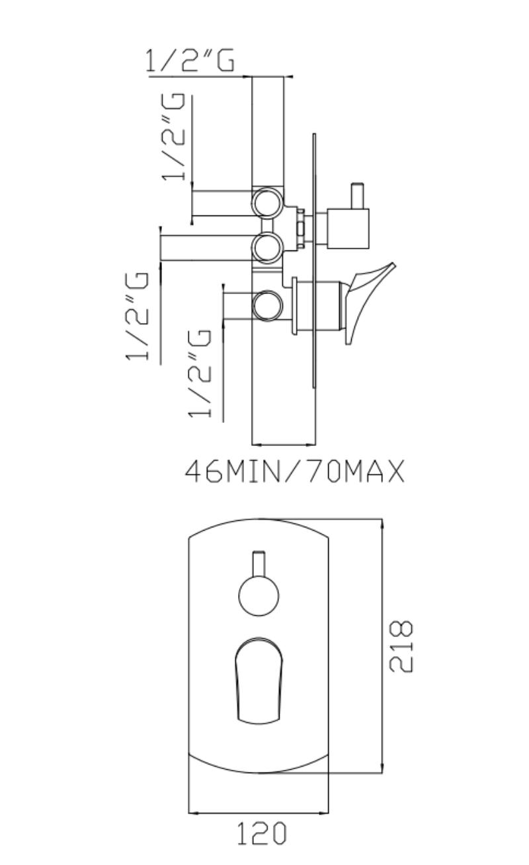 effepi-Bèk--Monocomando-doccia-incasso-quattro-uscite-non-adattabile-al-sistema-Uni-box-Art.-13186