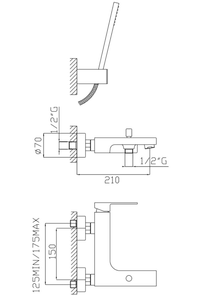 effepi-H-uno-Gruppo-vasca-con-duplex-e-flessibile-doppia-aggraffatura-Art.-20008